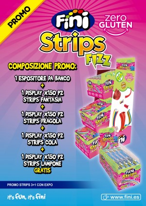 STRIPS FRIZZ FINI  ESPOSITORE 600 PZ