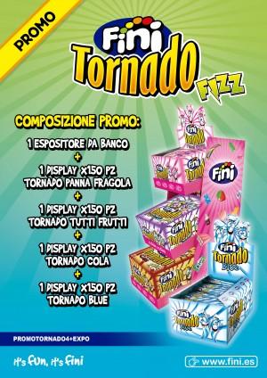 TORNADO FRIZZ FINI  ESPOSITORE 600 PZ
